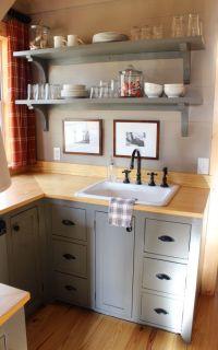 attic kitchenette shelves | OUR HOME | Pinterest | Room ...