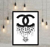 Coco Chanel Art Large Wall Art Chanel Print Fashion ...