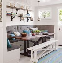 Awesome breakfast nook built in bench dining table and ...