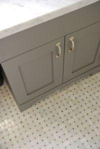 marble basketweave floor white subway tile bathroom ...