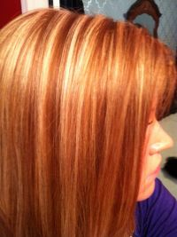 Natural red hair with blonde highlights I have learned to ...