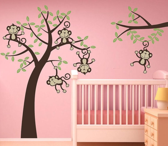 Monkeys And Bananas Cute Wallpaper For Girls 17 Best Images About Baby Child S Bedroom Ideas On