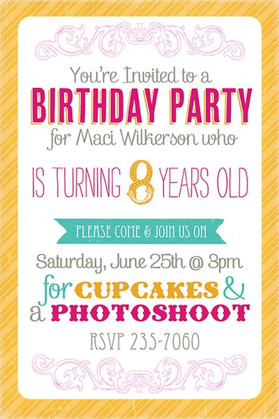13 year old birthday party invitations