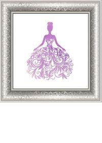 Purple Cinderella Princess DIY Wall Art Print by ...