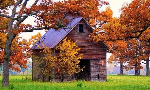Fall Desktop Wallpaper With Pumpkins Old Barn In The Fall Photography Autumn Country Fall Old