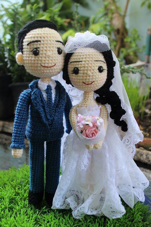 451 Best Images About Crochet Wedding Dolls On