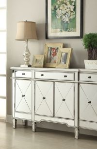 Silver Mirrored Credenza | Bobs, Bangs and Drawers