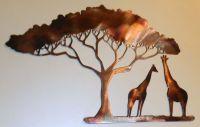Details about GIRAFFE METAL ART AFRICAN SAFARI RUSTIC ...