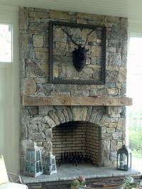 25+ best ideas about Grey stone fireplace on Pinterest ...
