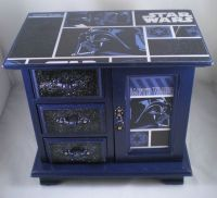 RESERVED: Star Wars Navy Darth Vader Upcycled Jewelry Box ...