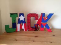 Superhero fabric wall letters | Kids Room | Pinterest ...