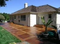 colored concrete patio | For the home | Pinterest ...