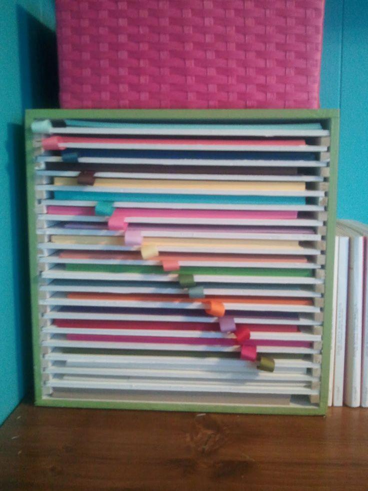 25 Best Ideas About Scrapbook Paper Storage On Pinterest