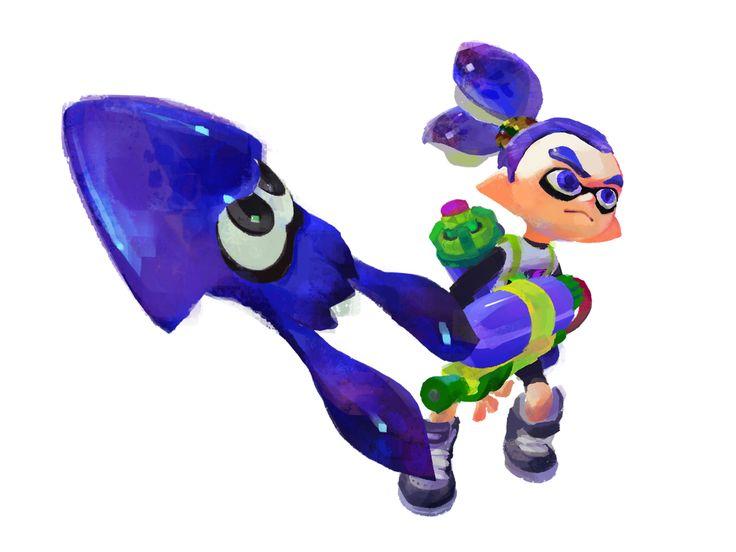 Hug Boy And Girl Wallpaper Blue Ink Boy With His Blue Inkling Splatoon Pinterest