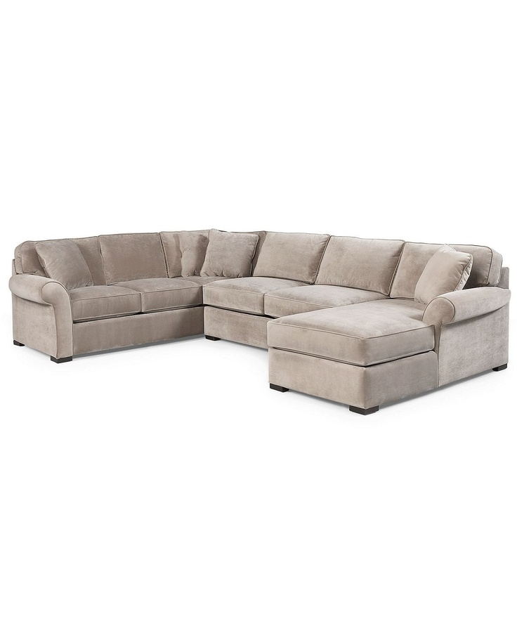 Fabric Sectional Sofas With Chaise Joyce Fabric Sectional Sofa, 3 Piece (apartment Sofa