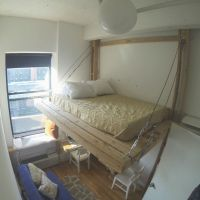 Hanging bed / loft bed / suspended bed / floating bed ...