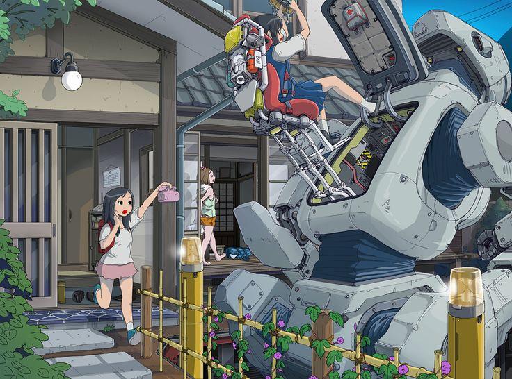 Nn 3d Wallpaper Original Robot Sukabu Konachan Com Konachan Com Anime