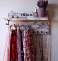 25+ best ideas about Scarf Rack on Pinterest   Hang ...
