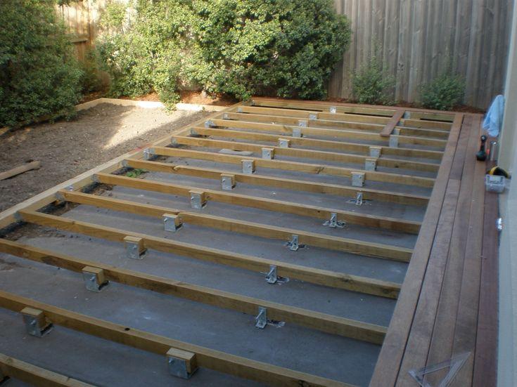 deck over concrete slab