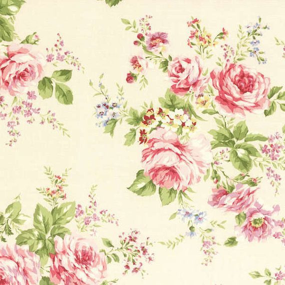 Cath Kidston Vintage Racing Car Wallpaper Rococo Sweet 2014 Large Rose Bouquets On Cream Cotton