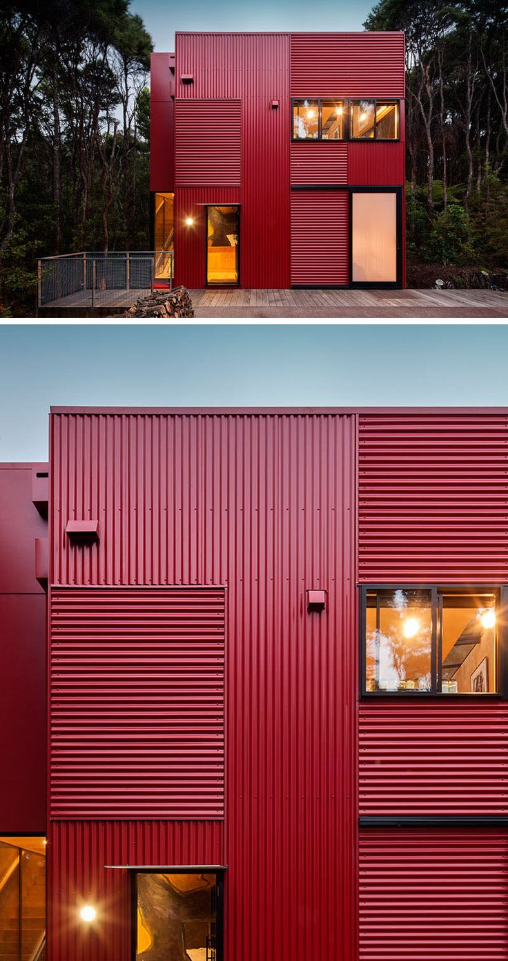11 red houses and buildings that aren t afraid to make a statement corrugated metal