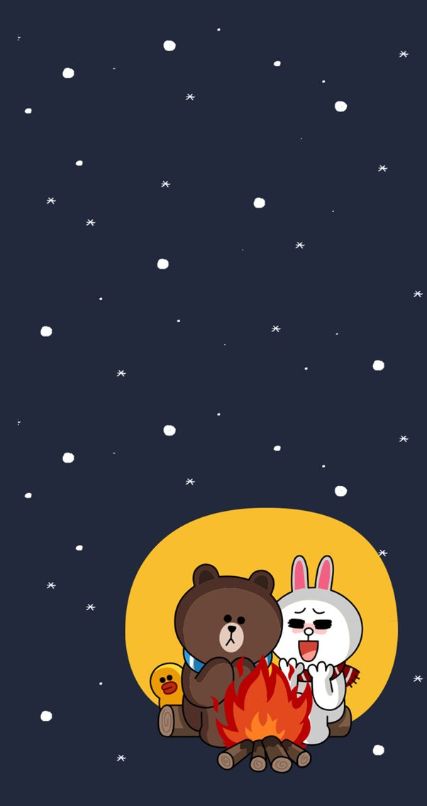 Totoro Cute Wallpaper Love In The Winter Brown And Cony Brown And Cony