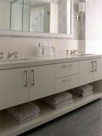 "Modern bathroom vanity; rectangular sinks, 1.5"" - 2 ..."