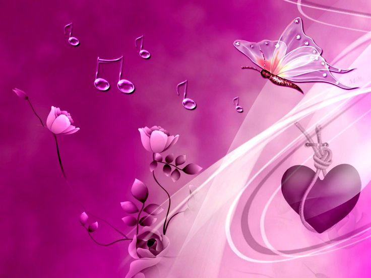 3d Broken Hearts Wallpaper Butterflies Wallpaper Pink Heart And Butterflies