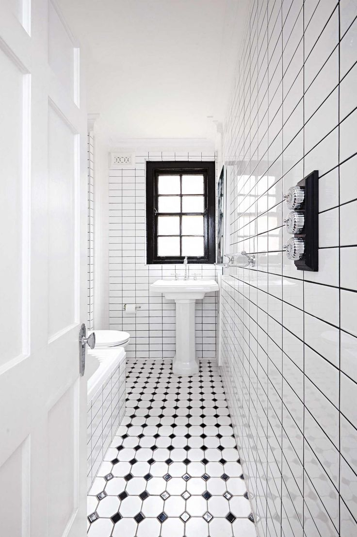 Small black and white bathroom renovation from insideout