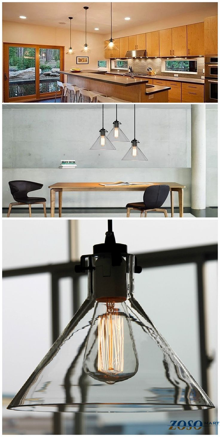 vintage pendant industrial kitchen light fixtures Industrial Glass Cone Pendant Home lighting Perfect pendant lighting for your kitchen table