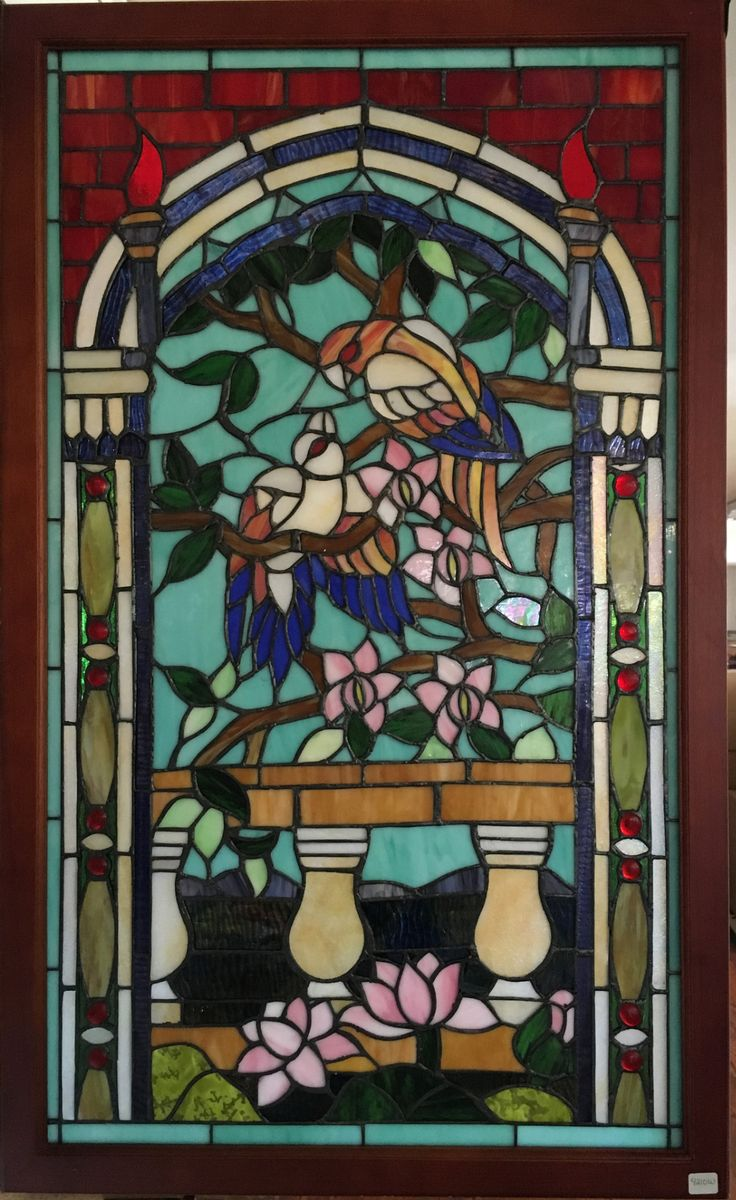 Create a beautiful focal point in your home with this beautiful stained glass window this