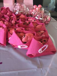 Pink diaper pink cookies for girl baby shower pink themed ...