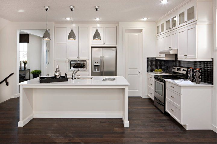 Contemporary Style Kitchen With Dark Chocolate Colored Wood