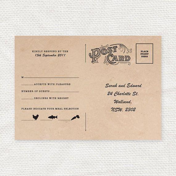 rsvp postcard template