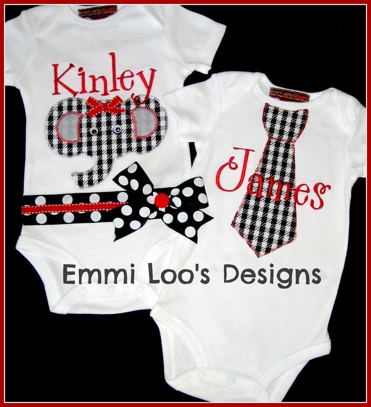 twins siblings matching alabama roll tide set girl baby elephant onesie