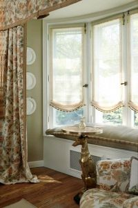 adorable window treatment for bay windows | Window ...