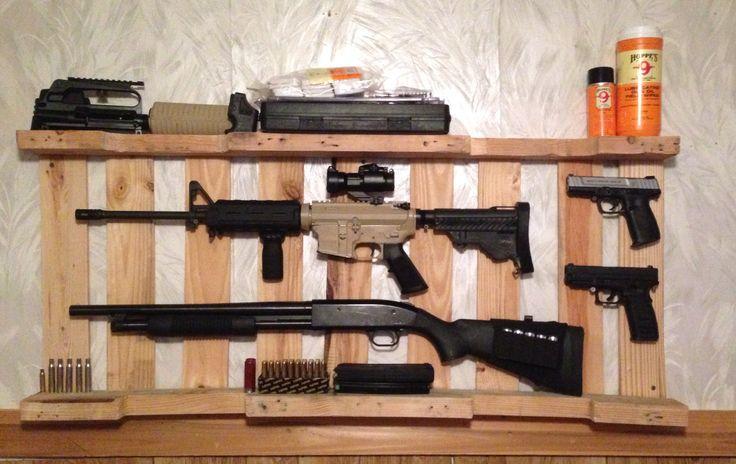 Diy Gun Rack Out Of Wooden Pallet Just Cool Stuff