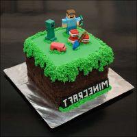 Minecraft Cake with grass fondant | Birthday/Parties ...
