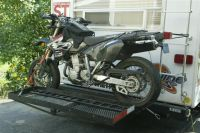 Custom Motorcycle Carrier on the back of a RV Travel ...