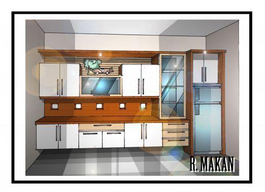 one wall kitchen designs