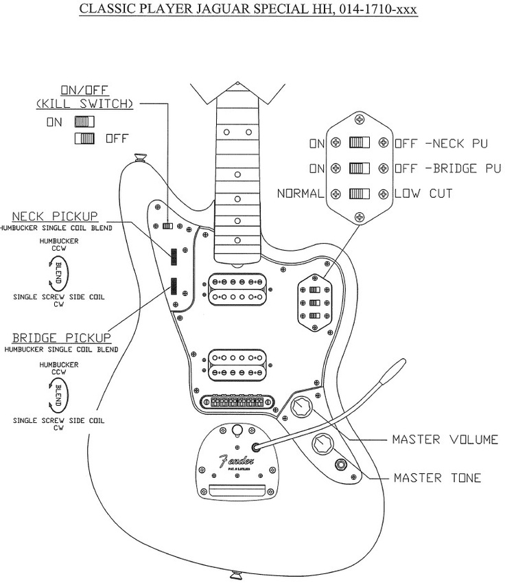 jaguar guitar wiring harness