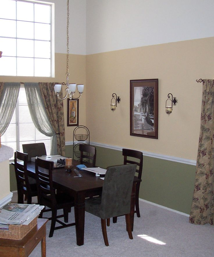 Dining Room Wallpaper With Chair Rail 31 Best Images About Decorating Ideas On Pinterest | Paint