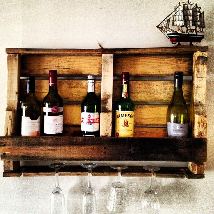 25+ best ideas about Pallet wine holders on Pinterest