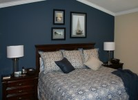 dark blue accent wall | Decor ideas | Pinterest ...