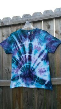 Tie Dye Shirt Teal and Purple Tie Dye Shirt by ...