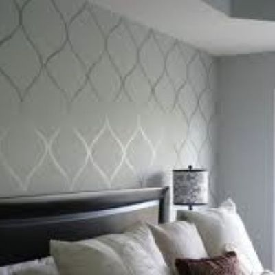 high gloss paint design over flat paint walls (same color) | Home Decor | Pinterest | Flats ...