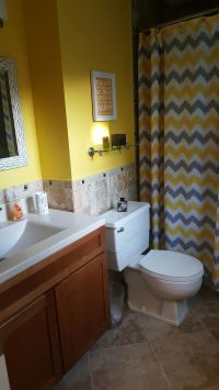 Yellow and gray bathroom | Bathroom Ideas | Pinterest ...
