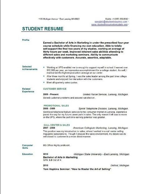 resume examples students best resume format 2015 university - resume example for students
