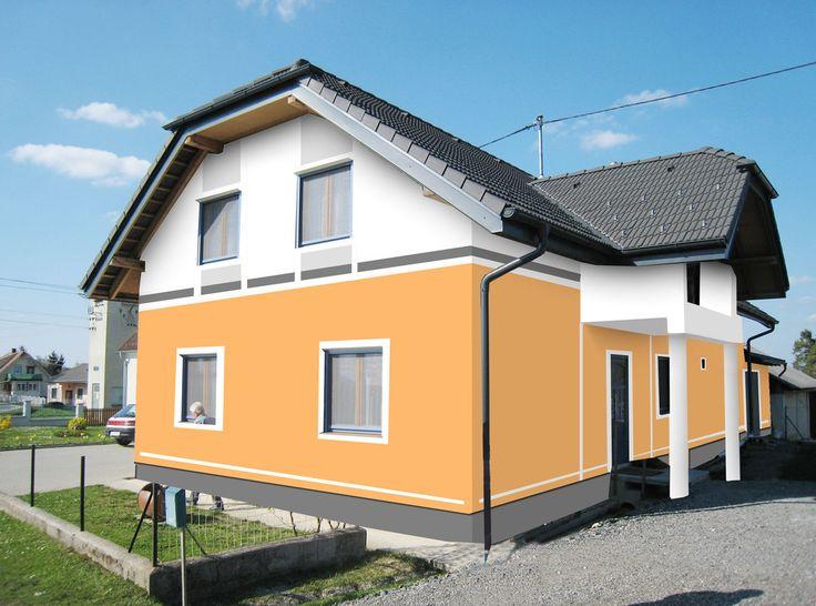 Fassadenfarbe Grau Modern ~ Kreative Bilder für zu Hause Design - fassadenfarbe haus
