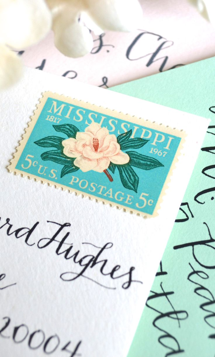 wedding postage 2B vintage stamps wedding postage stamps 10 UNused Vintage Magnolia Postage Stamps for Mailing Cards Wedding Invitations Save the Dates